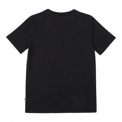 J25G23/09B BLACK TEE SHIRT MANCHE COURTE