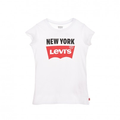 Levis Tee Shirt New York Blanc