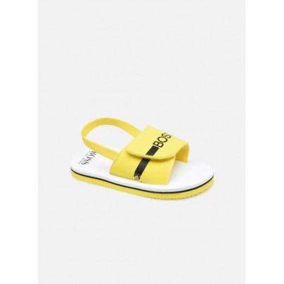Claquette BOSS jaune et...