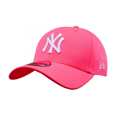 NY  Casquette rose fluo