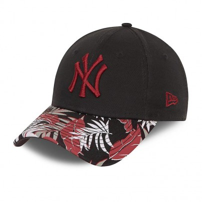NY Casquette Blck n red floral