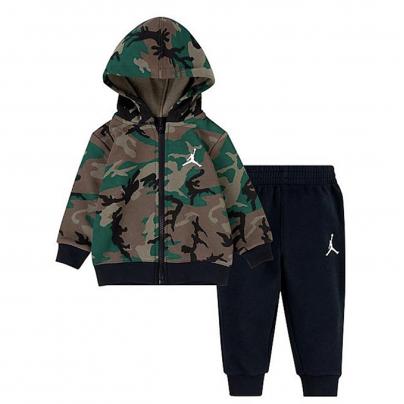 Ensemble Jordan camouflage veste et bas noir