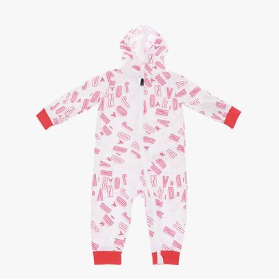 combinaison Jordan blanche et rose bébé